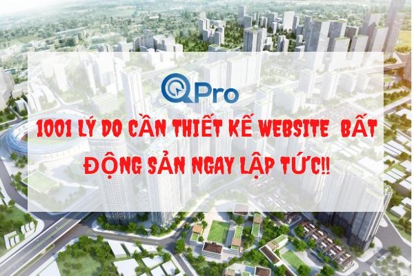 1001 lí do phải thiết kế website bất động sản ngay ập tcs