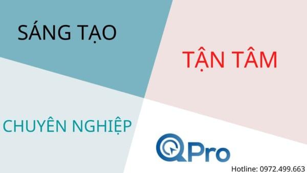 Qpro-Công ty thiết kế website chuyên nghiệp, tận tâm