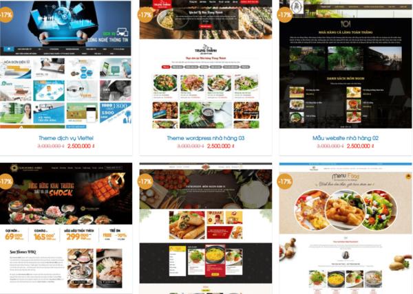 thiết kế website, thiết kế website qpo, thiết kế webste ẩm thực
