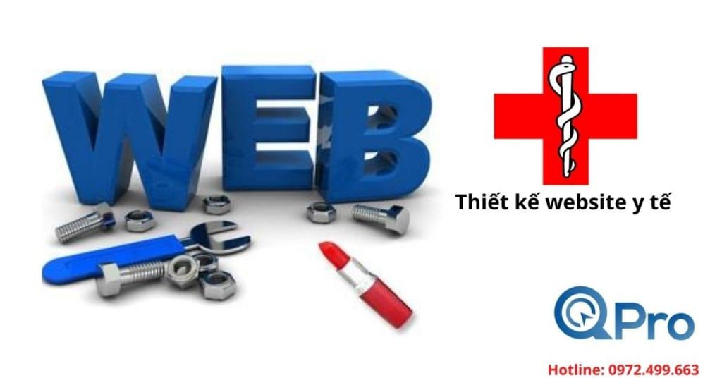 thiết kế website y tế