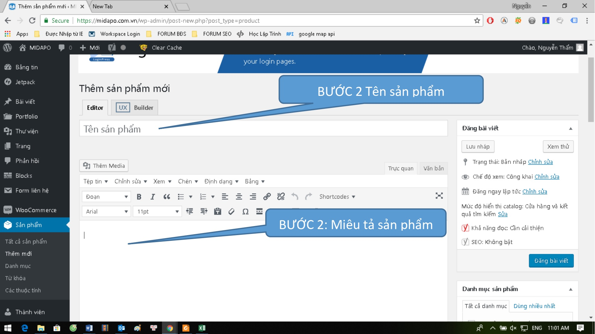 qproweb huong dan su dung wordpress dang san pham buoc 2