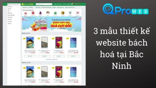 3 mẫu thiết kế web bách hoá tại bắc ninh