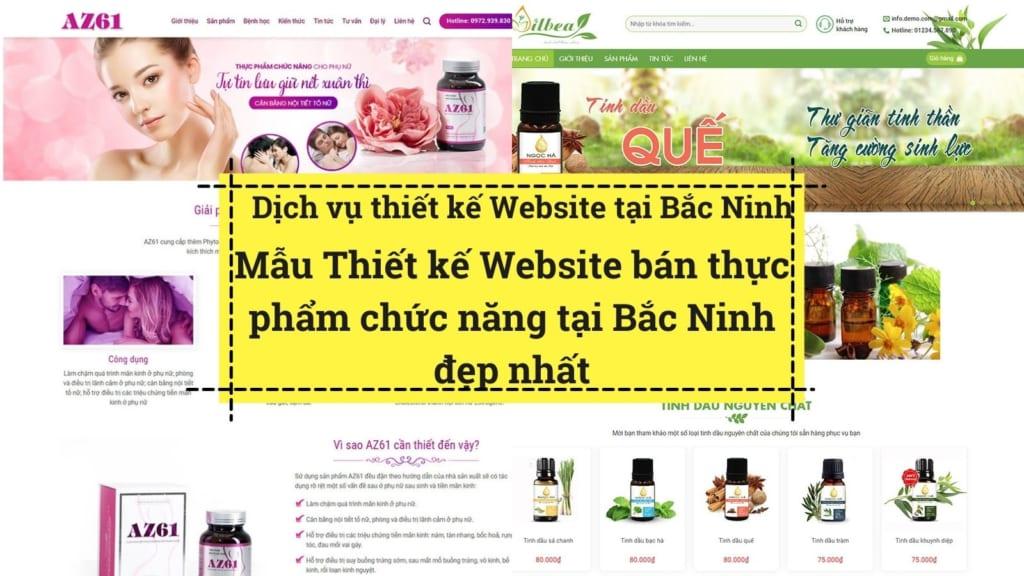 Những mẫu giao diện Thiết kế website bán hàng thực phẩm chức năng tại Bắc Ninh đẹp nhất